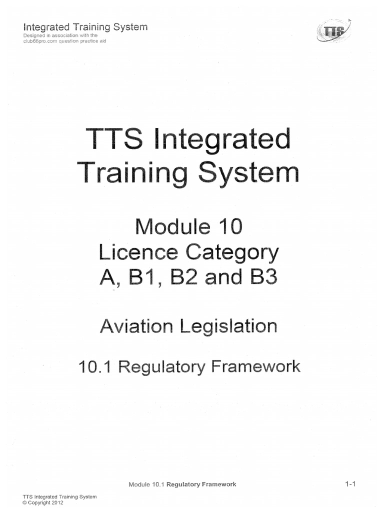 TTS notes 10 1 Regulatory Framework