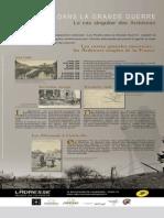 Panneaux d'exposition des postes dans La Grande Guerre