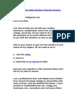 Free Homework Help Solutions Tutorials Answers