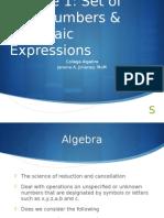 College Algebra_Module 1