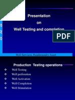 Well Tests Summarised