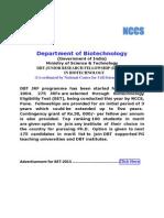 Dbt-jrf Advt. 2013