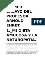 OCHO ENSAYOS DEL PROFESOR ARNOLD EHRET