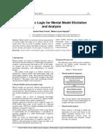Neutrosophic Logic for Mental Model Elicitation and Analysis