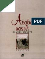Acaba Nasıl-Samuel Beckett