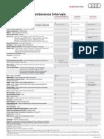 Audi Maintenance Schedule Model Year 2010
