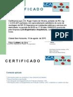 Certificado de Treinamento de NR18