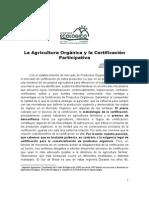 La Agricultura Orgánica y La Certificación Participativa
