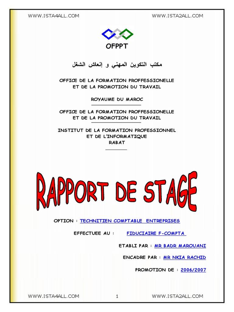 rapport de stage ofppt doc