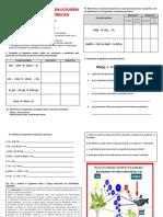 Actividades de Reacciones y Ecuaciones Químicas