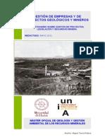 Cuestionario Sobre Gestión de Empresas y Proyectos Geológicos y Mineros