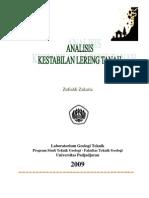 Zufialdi Zakaria 2009 Analisis Kestabilan Lereng Tanah