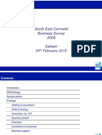 Saltash Presentation of South East Cornwall Business Survey Results