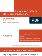 Los Valores y La Visión Integral de La Persona