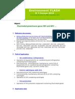 FLASH 2014 N°4_EUROPE_FLUORINATED GASES SF6 HCFC-en
