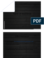 13. Types of Insurance