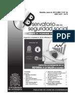 Observatorio 26 aspectos económicos de la reforma en salud en Colombia