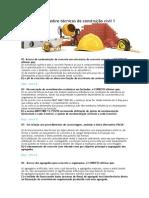 Lista Resolvida Sobre Técnicas de Construção Civil 1