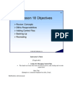Managing Contorl Archive Redolog Files Skillbuilders