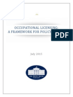 White House Occupational Licensing Report