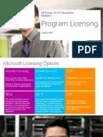 MCP Module 2 ProgramLicensing 70671 082012
