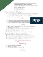 Physics 71 Notes CH 11-16 Bayombong