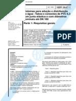 NBR 5647-1 Sistemas Para Adução e Distribuição de Água 1999