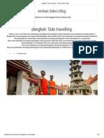 Bangkok_ Solo Travelling