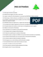 COSTUMBRES EXTRAÑAS DE NAVIDAD