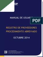 Procedimiento del Registro de Proveedores