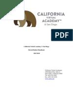 2015-2016 cava parent student handbook san diego