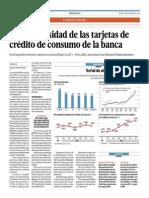 Sube Morosidad de Tarjetas de Credito de Consumo