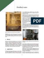 Distilled Water