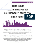 Dallas County Intimate Partner Violence Fatality Report