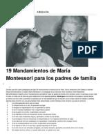 Inspiración. Maria Montesori