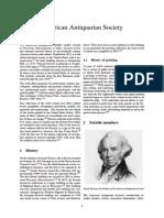 American Antiquarian Society