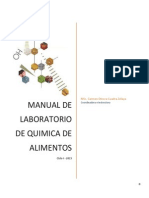 Manual Laboratorio Química de Alimentos
