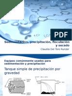 Sedimentación, Precipitación, Floculación y Secado Con Diseño