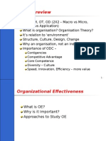 Organisation and Organisational Effectiveness
