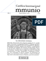 Communio 79 1La Identidad Cristiana