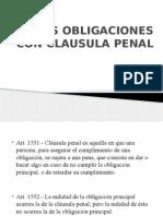 DE LAS OBLIGACIONES CON CLAUSULA PENAL ACTUAL HOY.pptx
