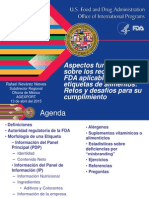 Requisitos etiquetado FDA