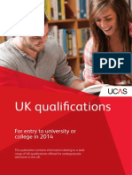 Ucas Uk Qualifications 2014 Entry