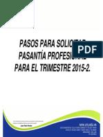Pasantias Proceso Presencial 2015 2