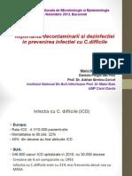 24. Importanta Decontaminarii Si Dezinfectiei in Prevenirea Infectiei Cu C.difficile