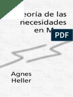 Heller, Agnes - Teoria de Las Necesidades en Marx