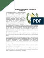 Autoridades de Trabajo Administrativas y Judiciales de Guatemala