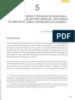 Actos Humanitarios y Procesos Resistencia Civil Frente a Los Actores Armados