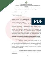 Fallo de suspensión de la desiganción del conjuez Vázquez.
