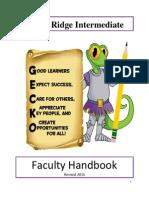 2015 faculty handbook revised